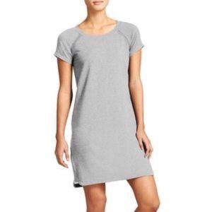 Athleta - Grey Short Sleeve Sweatshirt Dress L